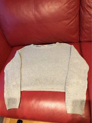 Pull & Bear Sweter o skróconym kroju jasnoszary