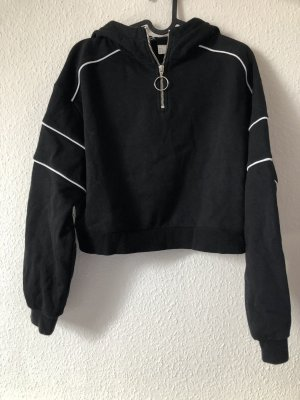 H&M Hooded Sweater black-white