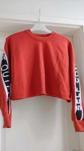 Kurzer Pullover Orange-Rot Gr. M
