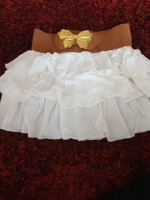 Miniskirt white