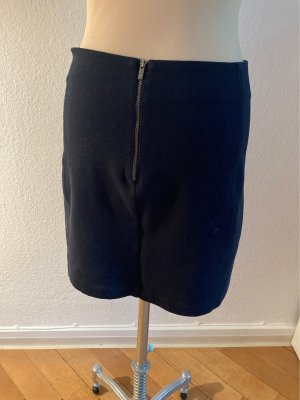 Benetton Minifalda azul oscuro Algodón