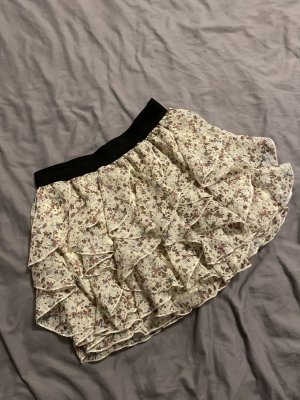 Clockhouse Warstwowa spódnica w kolorze białej wełny