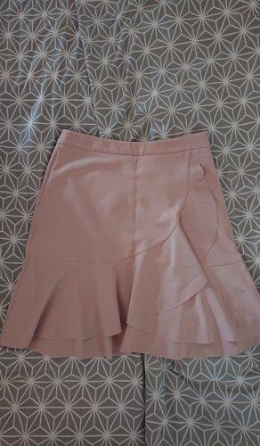 H&M Spódnica z falbanami różany