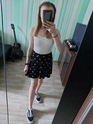 H&M Divided Circle Skirt white-black