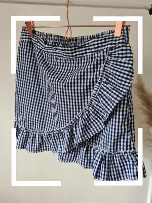 blue vanilla Wraparound Skirt white-blue