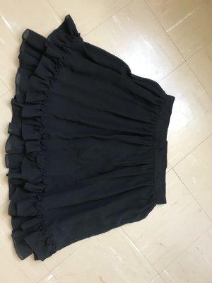 Kurzer Rüschenrock schwarz