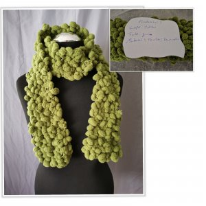 Crochet Scarf green