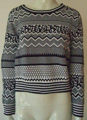 Kurzer schwarz/weißer Pullover