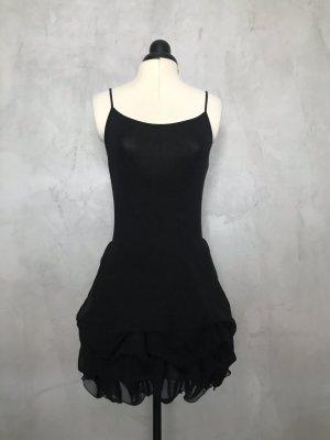 Falda globo negro Seda