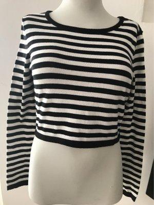 0039 Italy Crewneck Sweater black-white