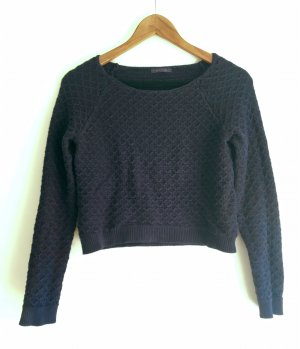Promod Cable Sweater dark blue