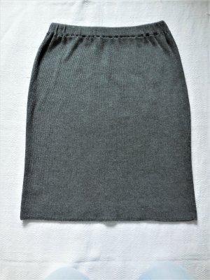Jupe tricotée gris coton