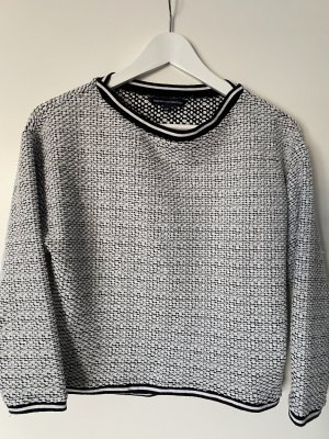 French Connection Crewneck Sweater black-white