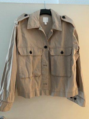 H&M Pilotenjack beige-donkerbruin