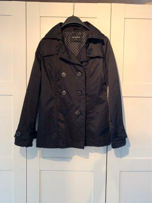 Kurzer Trenchcoat schwarz