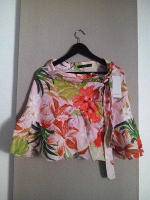 Zara Basic Jupe en lin multicolore lin