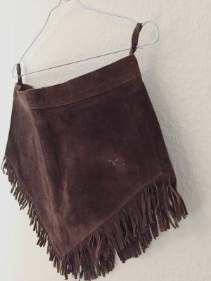 Fringed Skirt brown-dark brown