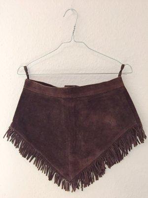 Falda con flecos marrón-marrón oscuro