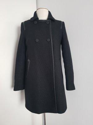 Comptoir des Cotonniers Krótki płaszcz czarny