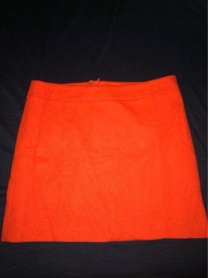 Marc O'Polo Wool Skirt neon orange-red