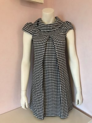 Ann Christine A Line Dress black-white viscose