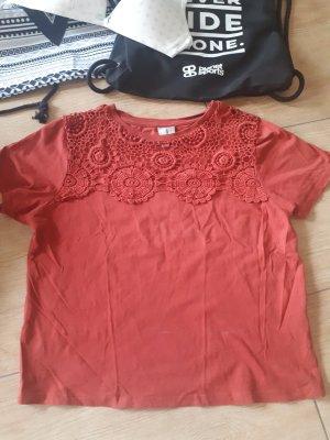 Asos Cropped shirt donker oranje Katoen