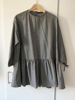 Kurzes ausgestelltes kariertes Kleid, A-Linie, Zara