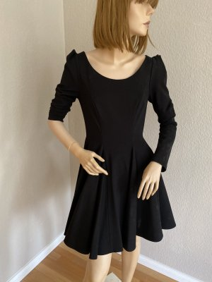 Kurzes ausgestelltes schwarzes Kleid Plein Sud