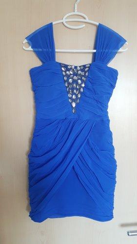 kurzes blaues Kleid mit Strass