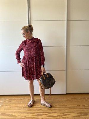 Kurzes Boho Kleid mit Animalprint von Zara