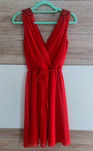C&A Yessica Vestido de chifón rojo