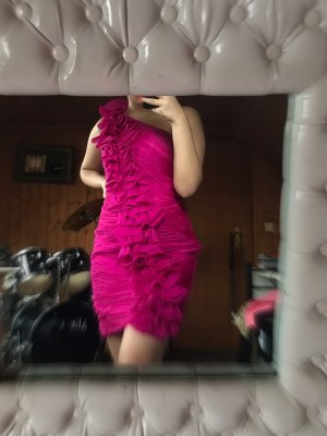 kurzes Cocktailkleid in pink/lila
