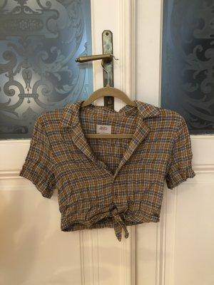 Pull & Bear Camisa de manga corta multicolor