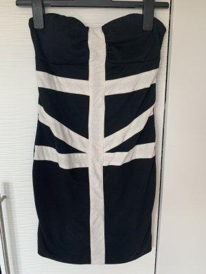 Kurzes Enges Kleid in Schwarz weis