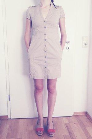 Mango Koszulowa sukienka beżowy