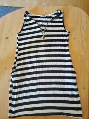 Ix-O Vestido playero blanco-negro