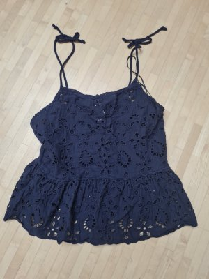 H&M Top peplo blu scuro