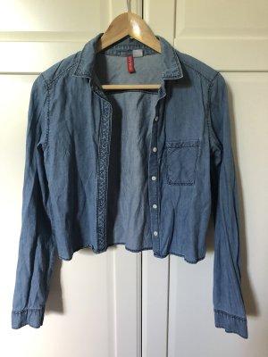 Devided von H&M Jeansowa koszula stalowy niebieski