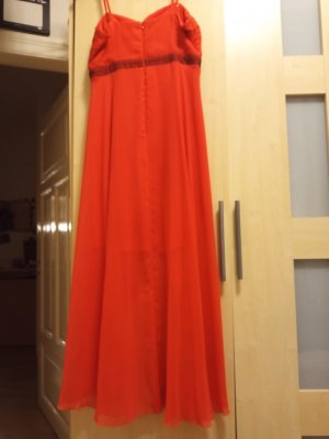 Paris Collection High Low Dress red chiffon