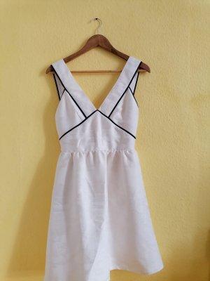 H&M Vestito peplo nero-bianco sporco