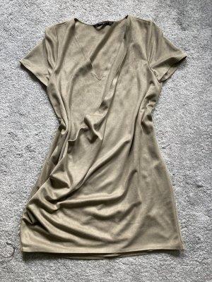 Zara Vestido de cuero multicolor