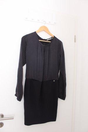 Rich & Royal Robe à manches longues noir-gris foncé