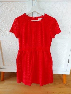 Oasis Letnia sukienka czerwony Bawełna