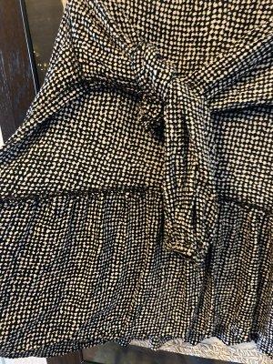 Sukienka typu babydoll czarny-biały