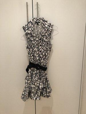 BCX Sukienka z rękawem balonowym biały-czarny