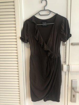 Zara Vestido bandeau marrón-negro-marrón oscuro