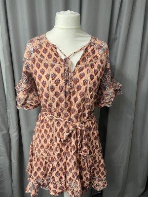 Jaase Vestido de Verano albaricoque tejido mezclado