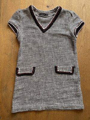 Kurzes Kleid in Bukleeoptik Gr small 36 weiß schwarz Zara