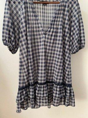Kurzes Kleid mit Karo Muster