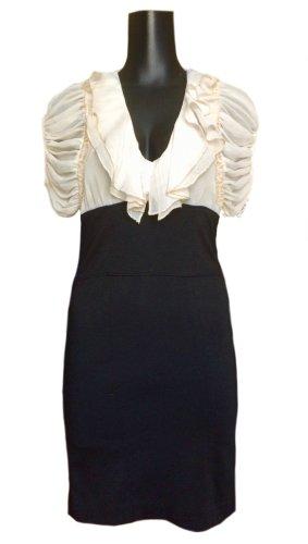 Kurzes Kleid mit luftigem, chiffonartigem Oberteil